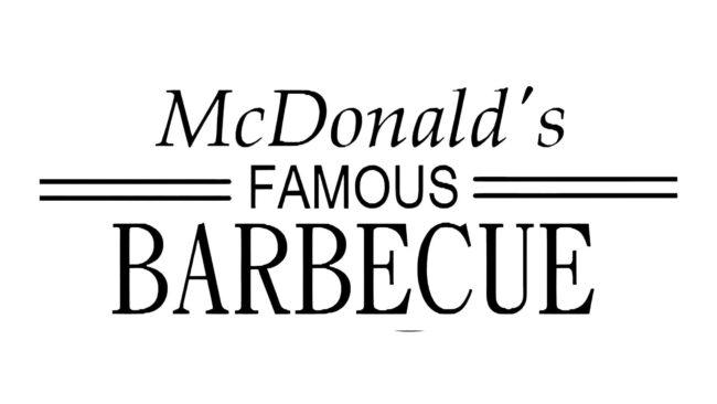 McDonalds Famous Barbecue Zeichen 1940–1948