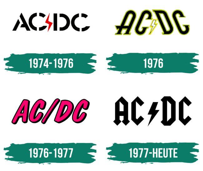 ACDC Logo Geschichte