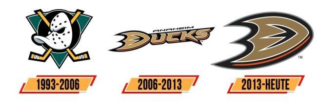 Anaheim Ducks Logo Geschichte