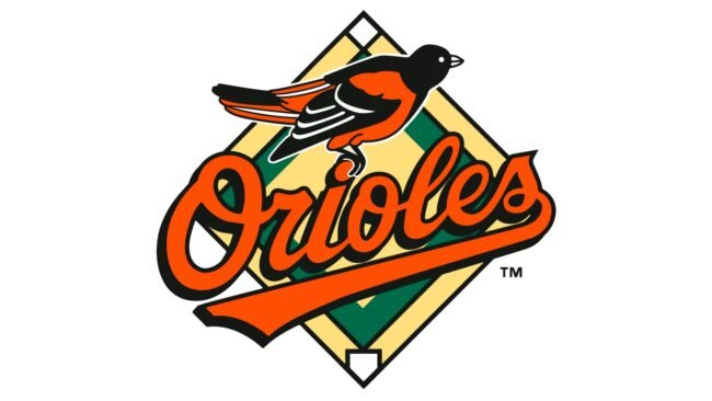 Baltimore Orioles Logo 1995-1997