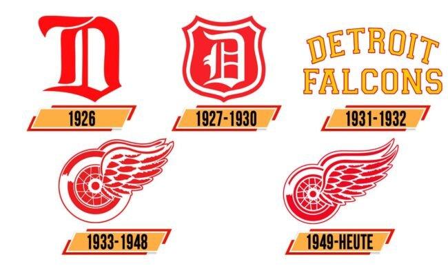 Detroit Red Wings Logo Geschichte