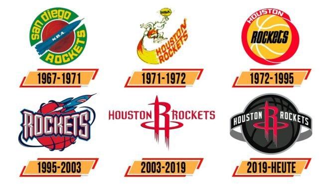 Houston Rockets Logo Geschichte