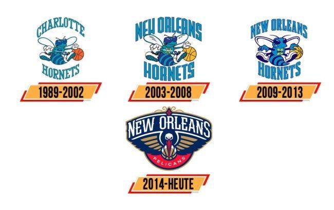 New Orleans Pelicans Logo Geschichte