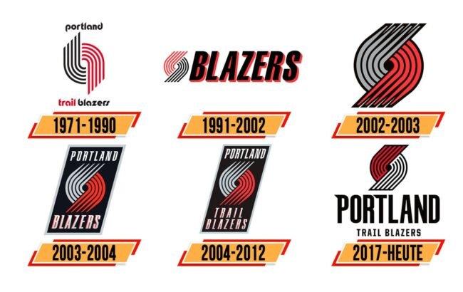 Portland Trail Blazers Logo Geschichte