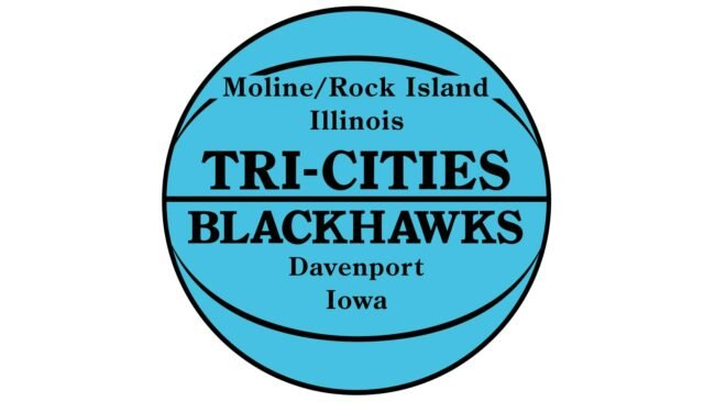 Tri City Blackhawks Logo 1946-1951