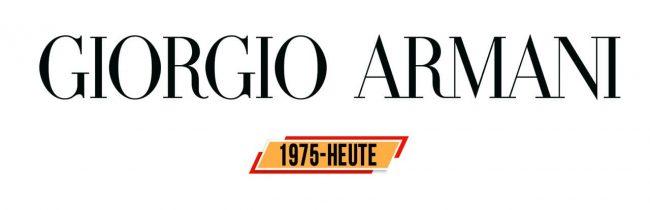 Giorgio Armani Logo Geschichte