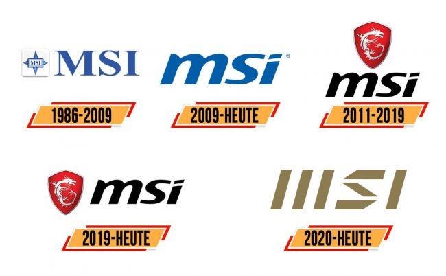 MSI Logo Geschichte