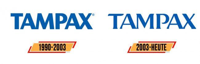 Tampax Logo Geschichte