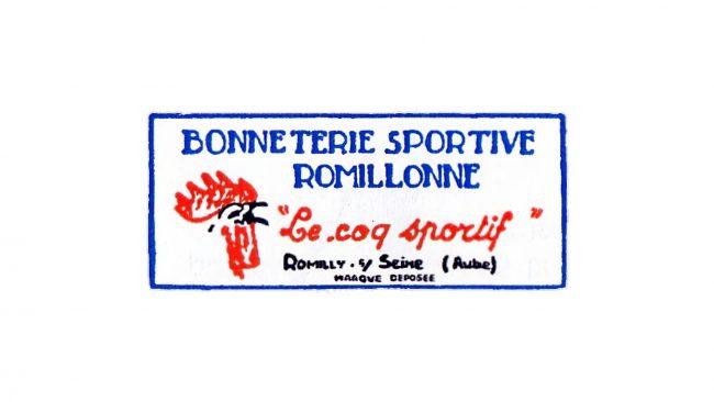 Bonnetterie Sportive Romillone Le Coq Sportif Logo 1948-1950