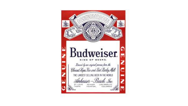 Budweiser Logo 1945-1987
