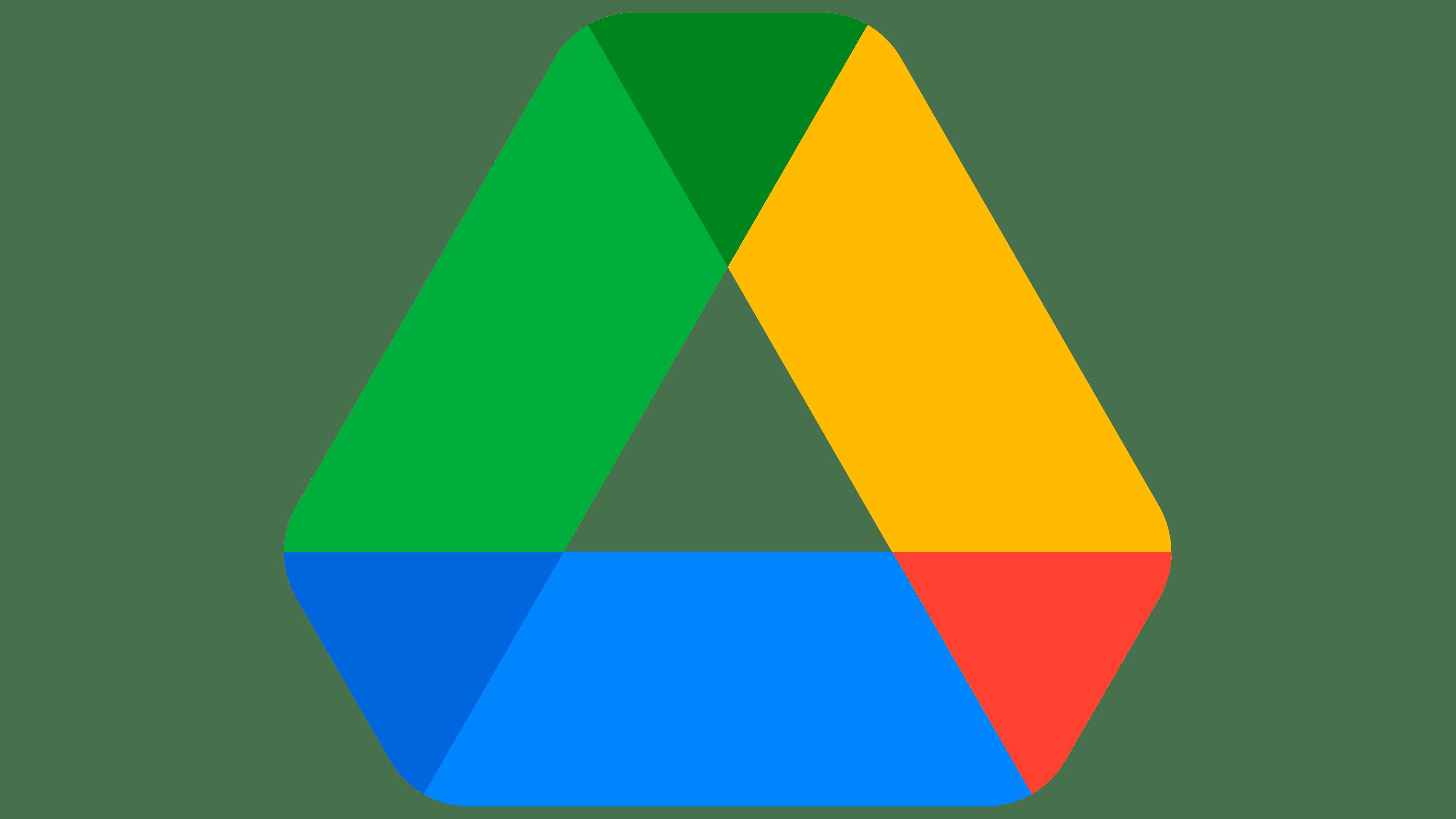 Google Drive Logo   Logo, zeichen, emblem, symbol. Geschichte und ...
