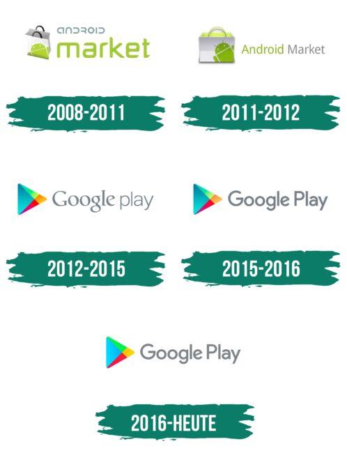 Google Play Logo Geschichte