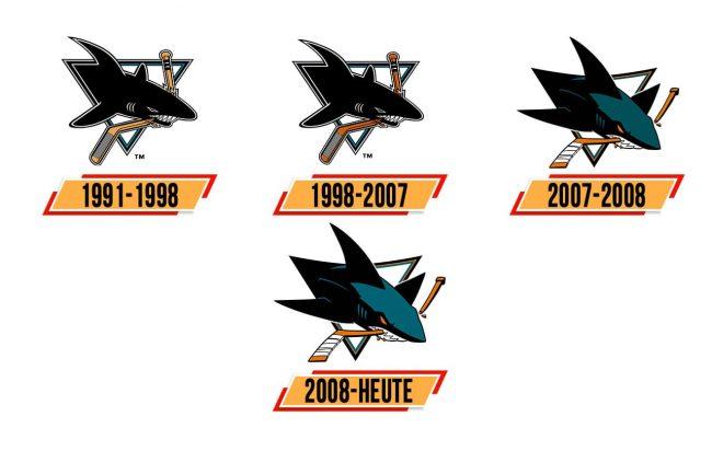 San Jose Sharks Logo Geschichte
