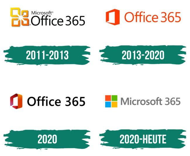 Microsoft Office 365 Logo Geschichte
