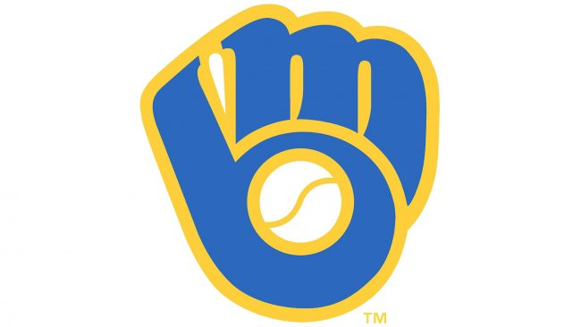 Milwaukee Brewers Ball in Glove primary logo 1978-1993