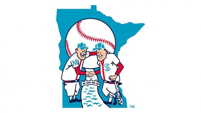 Minnesota Twins Minnie and Paul logo 1961-1975