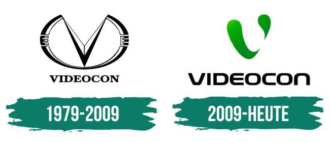 Videocon Logo Geschichte
