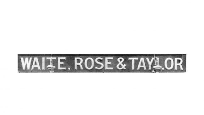 Waite, Rose & Taylor Logo 1904-1908