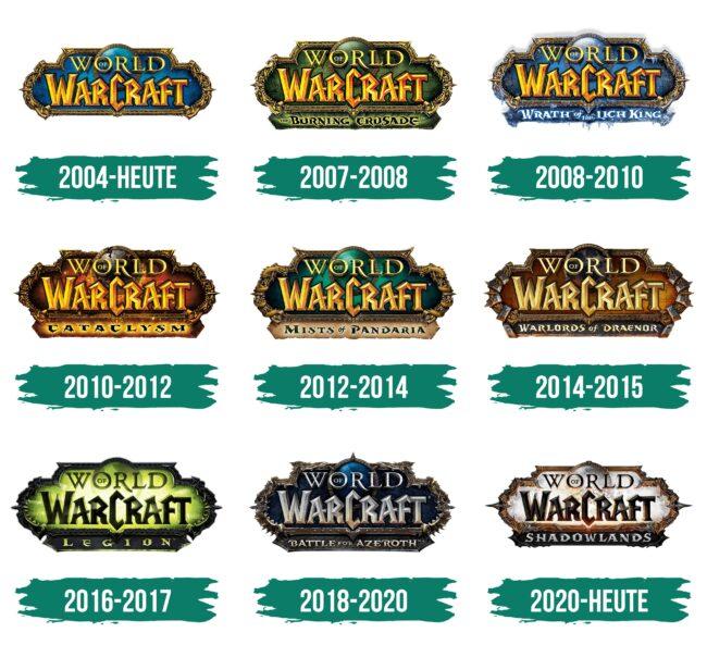 World of Warcraft Logo Geschichte