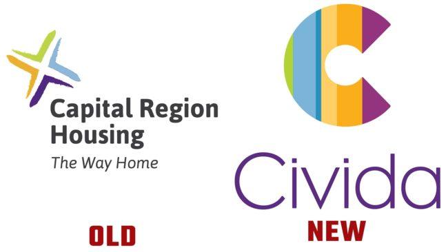 Civida Neues und Altes Logo (Geschichte)