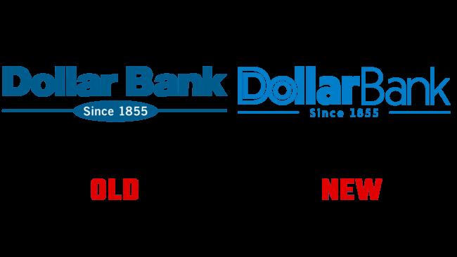 Dollar Bank Altes und Neues Logo (Geschichte)