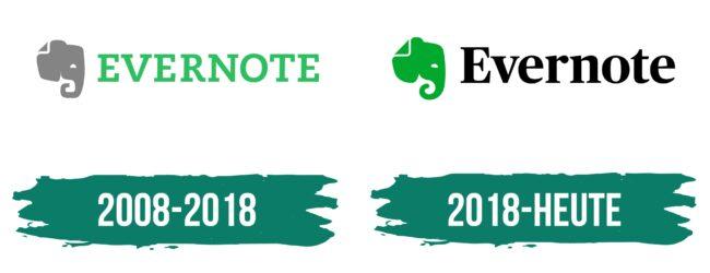 Evernote Logo Geschichte