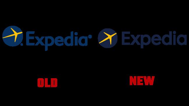 Expedia Neues und Altes Logo (Geschichte)