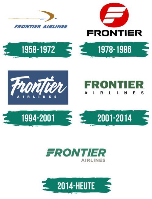 Frontier Airlines Logo Geschichte
