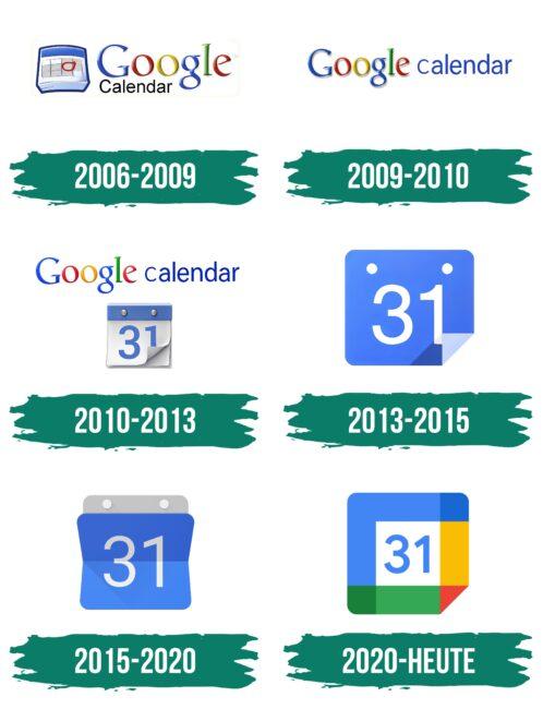 Google Calendar Logo Geschichte
