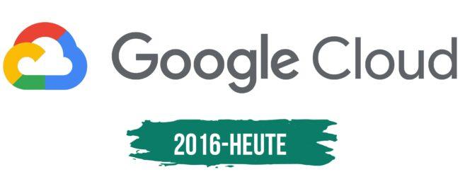 Google Cloud Logo Geschichte