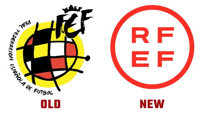 Royal Spanish Football Federation (RFEF) Neue und alte Logo-Geschichte