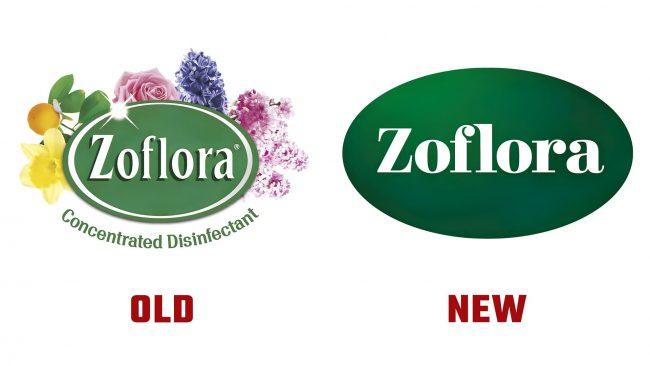 Zoflora Neue und Alte Logo Geschichte