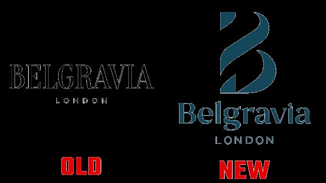 Belgravia London Neues und Altes Logo (Geschichte)