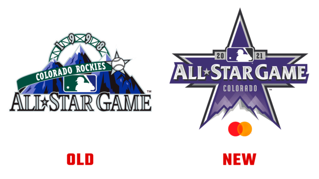 MLB All Star Game Colorado Neues und Altes Logo (Geschichte)