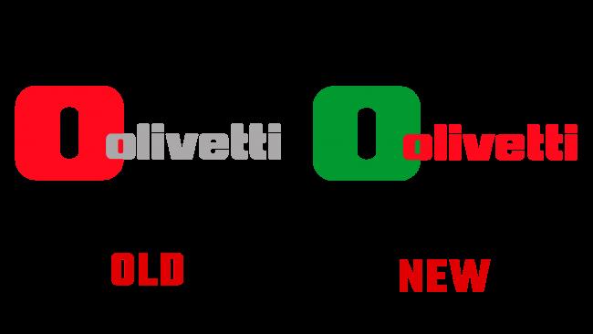Olivetti Neues und Altes Logo