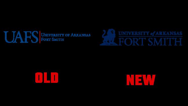 University of Arkansas Fort Smith Neues und Altes Logo