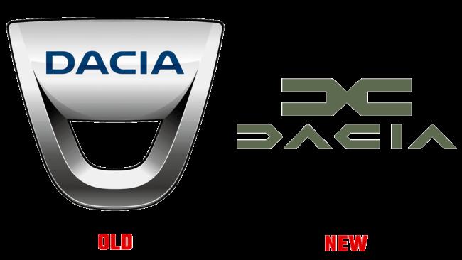 Dacia Altes und Neues Logo (Geschichte)