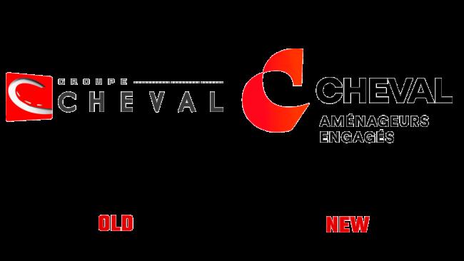 Groupe Cheval Altes und Neues Logo (Geschichte)