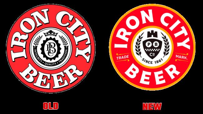 Iron City Beer Altes und Neues Logo (Geschichte)