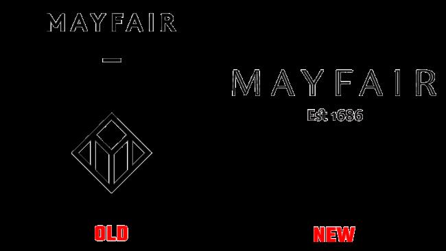 Mayfair Altes und Neues Logo (Geschichte)