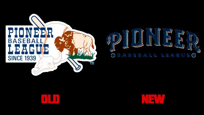 Pioneer Baseball League Altes und Neues Logo (Geschichte)