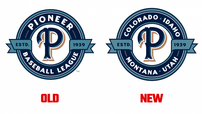 Pioneer Baseball League Logo Evolution