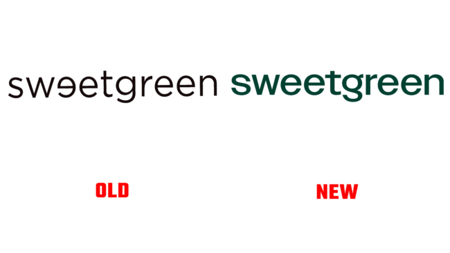 Sweetgreen Altes und Neues Logo (Geschichte)