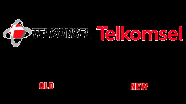 Telekomsel Altes und Neues Logo (Geschichte)