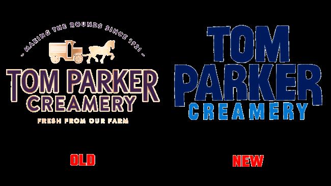 Tom Parker Creamery Altes und Neues Logo (Geschichte)