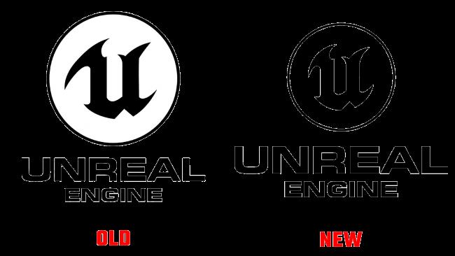 Unreal Engine altes und neues logo (Geschichte)