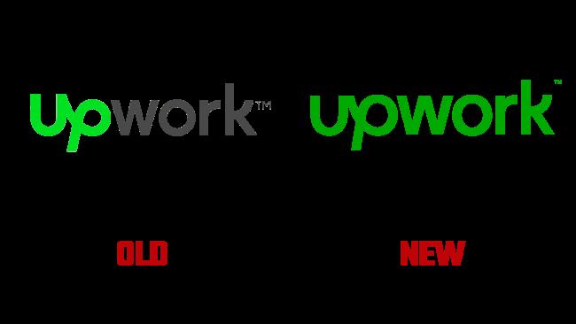 Upwork neues und altes logo (Geschichte)