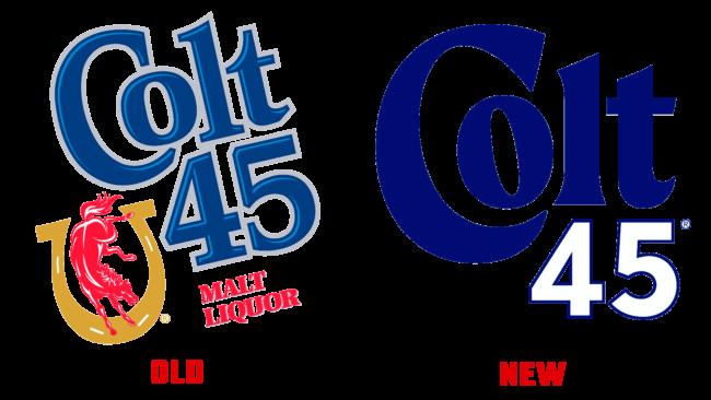 Colt 45 Altes und Neues Logo (Geschichte)
