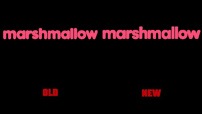 Marshmallow Altes und Logo (Geschichte)