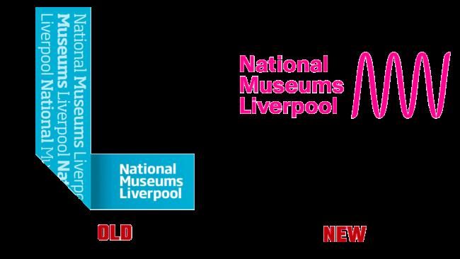 National Museums Liverpool Altes und Neues Logo (Geschichte)